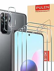 cheap -pulen [3 pieces] armored glass and [2 pieces] camera armored glass for xiaomi redmi note 10 / xiaomi redmi note 10s [9h hardness] [anti-scratch] [anti-bubble] [hd] clear film