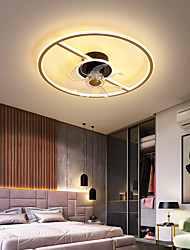 cheap -LED Ceiling Fan Light Nordic Style 45cm 55cm Circle Design Aluminum Artistic Style Vintage Style Modern Style Painted Finishes 220-240V 110-120V