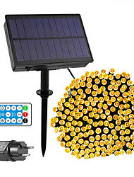 cheap -Solar Power String Light 50M-400LEDs 100M-800LEDs with Remote Control 8 Mode Flashing Timing Set Plug-in Dual Purpose Thanksgiving Christmas Outdoor Party Garden Decoration Fairy Lights Gypsophila 24V