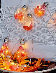 cheap -LED String Lights 4M LED Halloween Maple Leaf Bulb String Light Battery Powered Garden Decoration Thanksgiving Fairy Tale String Light Outdoor Flower Street Patio Decoration Light
