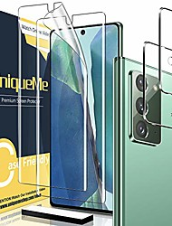 cheap -Phone Screen Protector For SAMSUNG Note 20 Plus Note 20 Ultra Note 20 Hydrogel Film 2 pcs High Definition (HD) Ultra Thin Scratch Proof Front & Camera Lens Protector Phone Accessory