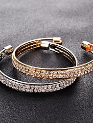 cheap -tennis bracelet simple fashion 2 rows full rhinestone open bangle bracelet female accessories