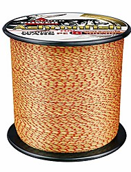 cheap -braided fishing line- 8 strands super strong pe fishing wire heavy tensile for saltwater & freshwater fishing -abrasion resistant - zero stretch- 100m/109yds 8lb red and yellow