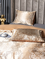 cheap -2 Pack 50*75cm Pillowcases/Pillow Shams Like Satin Silk Soft Luxury Plain/Solid Golden