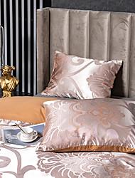 cheap -2 Pack 50*75cm Pillowcases/Pillow Shams Like Satin Silk Soft Luxury Plain/Solid Orange