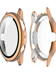 cheap -compatible for galaxy watch active 2 40mm 44mm screen protector case ultra hd tempered glass overall protective electroplate hard cover defense edge for active 2 40mm 44mm (rose gold, active 2 40mm)