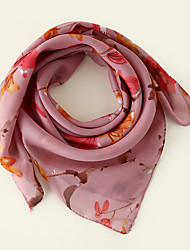 cheap -Women's Square Scarf Party Rose Scarf Floral Chiffon Fall Spring