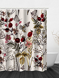 cheap -Flower and Plant Animal Pattern Hook Shower Curtain Modern Polyester Waterproof Digital Printing Shower Curtain 72 Inch