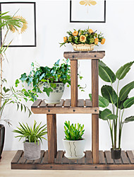 cheap -3-Tier Multifunctional Bamboo Plant Flower Stand PG-S04 Furniture