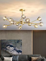 cheap -LED Pendant Light Chandelier Gold Crystal 6 9 12 Heads Unique Design Copper Brass LED Nordic Style 110-240 V