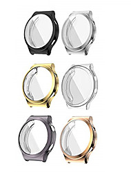 cheap -[6 pack]  compatible with huawei watch gt 2 pro screen protector case, all- around tpu waterproof anti- scratch screen protector protective case cover replacement for huawei gt 2 pro smartwatch