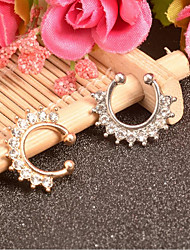 cheap -Women's Body Jewelry 1.6 cm Nose Ring / Nose Stud / Nose Piercing tiny diamond Silver / Gold Fashion Alloy Costume Jewelry For Party / Wedding / Carnival Summer