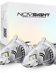 cheap -2pcs NOVSIGHT H4 Led Car Headlights Bulb 9003 HB2 Hi/Lo Mini Car 1:1 Design 70W 12V 6000K White Auto Accessories Led Headlamps Bulbs