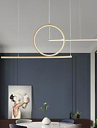 cheap -LED Pendant Light Kitchen Island Light Black Gold 90 cm Cluster Design Line Design Pendant Light Aluminum Modern Style Minimalist Painted Finishes 220-240V 110-120V