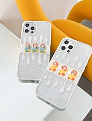 cheap -Phone Case For Apple Back Cover iPhone 12 Pro Max 11 SE 2020 X XR XS Max 8 7 Shockproof Dustproof 3D Cartoon Animal TPU