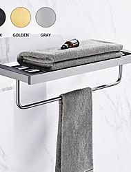 cheap -New Design Antique Modern AluminumWall Mounted Towel Bar Bathroom Shelf Bathroom Double Layer