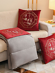 cheap -Chinese Style Pillow Quilt Mercerized Velvet Exquisite Embroidery Portable High-grade Pillow Quilt Dual Purpose Car Seat Cushion Sofa Office Nap Pillow For Chairs Back