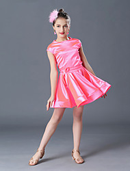 cheap -Latin Dance Dress Solid Girls' Performance Daily Wear Polyester