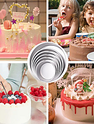 cheap -6/8/10/12 Inch Round Cake Pan Removable Bottom Cake Molds Aluminum Alloy Chiffon Cakes Mold/Mould Set Round Cakes Tins Baking Tools