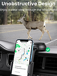 cheap -UGREEN Phone Holder Stand Mount Car Car Holder Cupula Type Adjustable ABS Phone Accessory iPhone 12 11 Pro Xs Xs Max Xr X 8 Samsung Glaxy S21 S20 Note20
