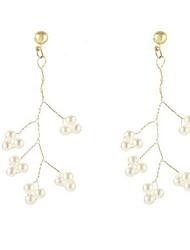 cheap -Women's Earrings Stylish Imitation Pearl Earrings Jewelry White For Gift Date