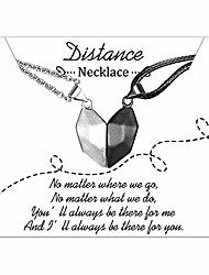 cheap -magnetic couples necklace for him her distance matching necklaces relationship gifts wishing stone jewellery gifts for women men lover girlfriend boyfriend (black silver)