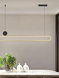 cheap -LED Pendant Light Kitchen Island Light Modern Gold 100 cm Lantern Desgin Metal Painted Finishes 220-240V 110-120V