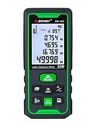 cheap -SNDWAY Laser Distance Meter Digital Range SW-50G 50m Rangefinder Trena Lazer Tape Measure Ruler Roulette Measurer Tool