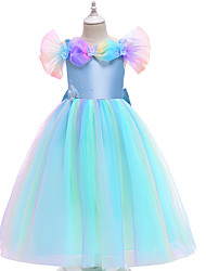 cheap -Ball Gown Ankle Length Flower Girl Dresses Party Satin Sleeveless Square Neck with Sash / Ribbon / Formal Evening