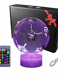 cheap -Round 3D Nightlight Night Light For Children Color-Changing Adorable Remote Control Touch Dimmer Gradient Mode Thanksgiving Day Christmas AA Batteries Powered USB 1pc