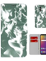 cheap -Phone Case For LG Full Body Case K52 LG Stylo 5 K42 K71 Q52 K62 LG Q60 LG K50 LG K51 K41S and Screen Protector Wallet Card Holder Marble PU Leather