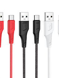 cheap -HOCO USB C Cable Normal 3 A 1.0m(3Ft) Silicone For Xiaomi Huawei Phone Accessory