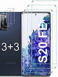 cheap -Phone Screen Protector For SAMSUNG S21 S21 Plus S21 Ultra S20 S20 Plus Tempered Glass 6 pcs High Definition (HD) Scratch Proof Front & Camera Lens Protector Phone Accessory