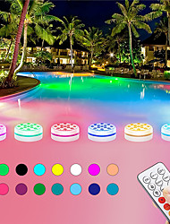 cheap -Underwater Light 4pcs New 13 LEDs RGB LED Submersible Light RF Remote Controlled Underwater Night Battery Operated Lamp Outdoor Vase Bowl Garden Party Decoration