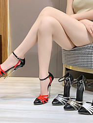 cheap -Women's Heels Stiletto Heel Pointed Toe PU White Red Gold
