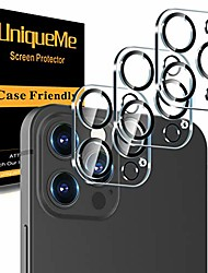 """cheap -[ 3 pack] uniqueme camera lens protector compatible with iphone 12 pro max 6.7"""" tempered glass,[case friendly][new version][scratch-resistant][easy installation] -black circle"""