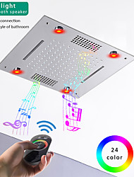cheap -Rainfall Shower Head - LED Waterfall Rain Contemporary Chrome / Painted Finishes Ceiling Mounted Bath Showerhead for Shower Room Bluetooth  Remote Control Bathroom Plumbing Accessories