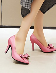 cheap -Women's Heels Stiletto Heel Pointed Toe PU Synthetics White Black Pink