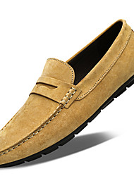 cheap -Men's Loafers & Slip-Ons Suede Shoes Driving Shoes Classic Daily Pigskin Breathable Yellow Gray Spring Summer