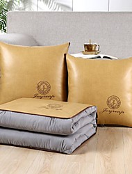 cheap -Pillow Quilt Multifunction Light Luxury Pure Color Embroidered 2 In 1 Napping Pillow Car Purpose Cushion Office Nap Pillow Folding Blanket Sofa Pillow Air Conditioning Quilt