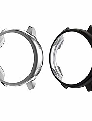 cheap -hemobllo 2pcs smart watch protector tpu bumper case protective frame cover shell anti scratch smartwatch accessories for galaxy watch active (black, silver)