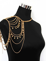 cheap -Women's Body Jewelry 14 cm Body Chain Gold Line Fashion Alloy Costume Jewelry For Party / Street / Daily Summer