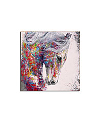 cheap -Oil Painting Handmade Hand Painted Wall Art Animal Abstract Horse Home Decoration Decor Stretched Frame Ready to Hang