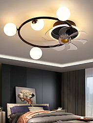 cheap -LED Ceiling Fan Light Modern Black Gold Circle Design 55cm Dimmable Aluminum Artistic Style Vintage Style Modern Style Painted Finishes LED Nordic Style 220-240V 110-120V