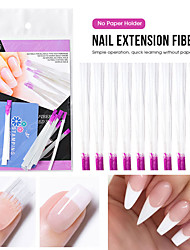 cheap -3 Packs/set Fiberglass Nail Extension Fiberglass for Nail Silk Extension Building Nail Form Acrylic Tips Manicure Nail Art Tools