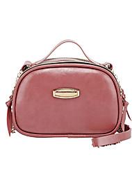 cheap -Women's Bags PU Leather Crossbody Bag Chain Plain Fashion Daily Date Retro 2021 Handbags Wine Blushing Pink Black Brown