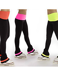 cheap -Figure Skating Pants Women's Girls' Ice Skating Pants / Trousers Bottoms Blue Pink Orange Spandex High Elasticity Training Competition Skating Wear Warm Classic Ice Skating Winter Sports Figure