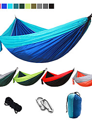 cheap -Camping Hammock Outdoor Portable Breathable Quick Dry Ultra Light (UL) Foldable Parachute Nylon with Carabiners and Tree Straps for 2 person Hunting Fishing Hiking Transparent Green Pink and Blue