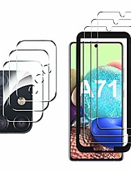 cheap -gesma protective film compatible with samsung galaxy a71, 3 pieces protective film and camera protective film, with positioning aid, 9h hardness, hd clear screen protector, easy assembly, bubble-free.