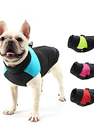 cheap -Dog Vest Dog Costume Patchwork Leisure Dailywear Casual / Daily Winter Dog Clothes Puppy Clothes Dog Outfits Waterproof Red Blue Pink Costume for Girl and Boy Dog Cotton S M L XL XXL 3XL